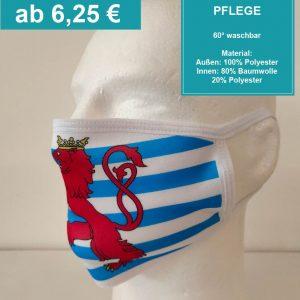 Personalisierte, bedruckte Schutzmaske Luxemburg