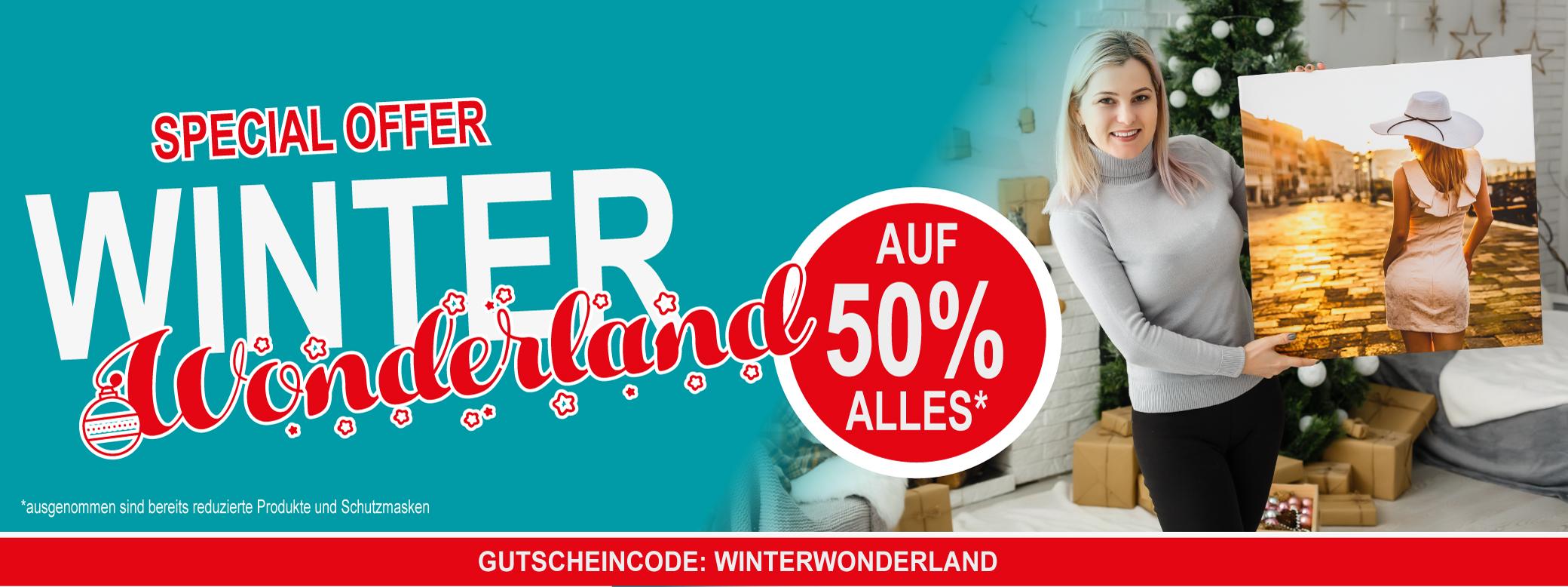 50% auf alle Fotoleinwände Luxemburg Winter Wonderland Christmas Special Weihnachtsgeschenk