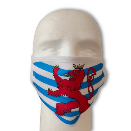 Individuell bedruckte Schutzmaske Luxemburg Roude Leiw